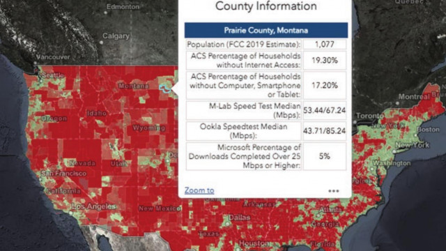 Interactive map shows Prairie County residents have more Internet access than their neighbors
